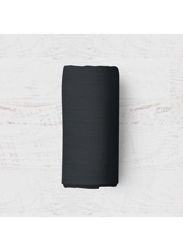 Maki Siyah 180x200 Battal Boy Lastikli Çarşaf Takımı Siyah